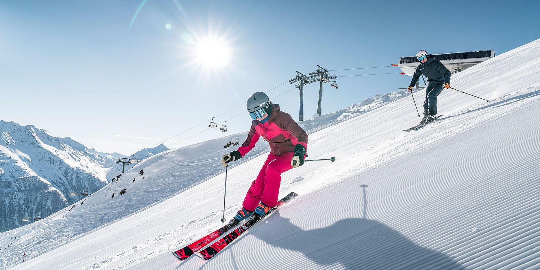 Skifahren im Skigebiet Sölden-Hochsölden